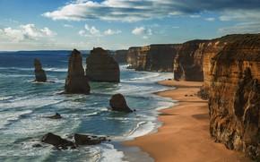 Картинка океан, скалы, побережье, Австралия