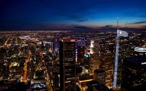 Картинка Sky, Night, Los Angeles, Dusk