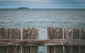 Картинка море, природа, забор