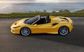 Картинка машина, вода, Ferrari, спорткар, Spider, Ferrari F8