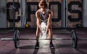 Картинка female, workout, fitness, deadlift