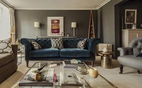 Картинка комната, интерьер, гостиная, Chesterfield