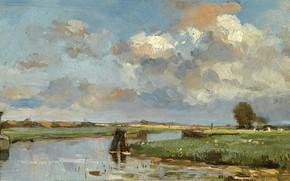 Картинка пейзаж, картина, Louis Stutterheim, Луи Статтерхейм, Вид на Мёйдерберг