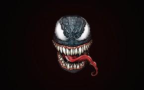 Картинка Минимализм, Существо, Монстр, Дождь, Стиль, Зубы, Фон, Клыки, Fantasy, Monster, Арт, Art, Style, Фантастика, Marvel, …