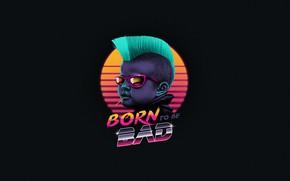 Картинка Ребенок, Фон, Арт, 80s, Панк, Neon, 80's, Synth, Retrowave, Synthwave, New Retro Wave, Futuresynth, Синтвейв, …