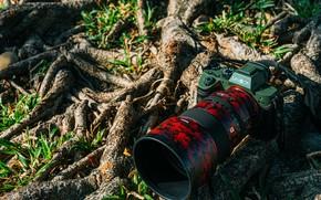 Картинка дизайн, Фотоаппарат, объектив, Sony A7R3