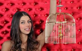 Картинка взгляд, модель, шатенка, Valentina Kolesnikova