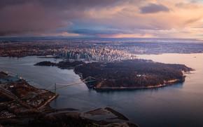 Картинка Vancouver, парк, мост, водоём, здания