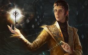 Картинка магия, ключ, маг, парень