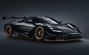 Картинка dark, metal, black, mclaren, 720s, 2021, gt3x