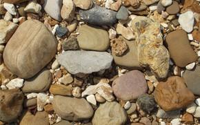 Картинка пляж, галька, камни, текстура