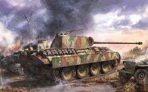 Картинка Германия, пантера, танк, вермахт, средний, панцерваффе, Pz.Kpfw.V Panther A Late, Sd.Kfz.171
