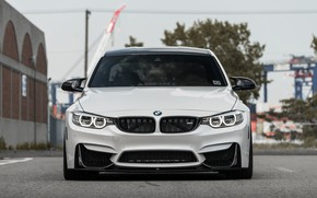 Картинка BMW, Front, White, F80, Sight