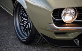 Картинка Фара, Chevrolet, Диск, 1969, Camaro, Chevrolet Camaro, Muscle car, Classic car, Wide Body Kit, Sports …