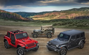 Картинка 2018, 1944, Jeep, Willys, Wrangler Rubicon, Wrangler Sahara