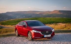 Картинка Mazda, Mazda 6, красная, 2018