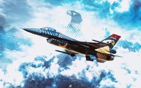 Картинка f-16, turkey, solotürk