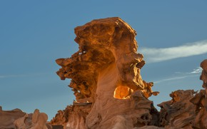 Картинка небо, скалы, США, Невада, Gold Butte National Monument