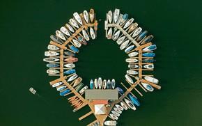 Картинка лодки, Германия, причал, Северный Рейн-Вестфалия, Национальный парк Айфель