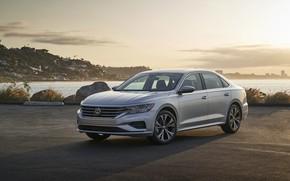 Картинка Volkswagen, седан, на берегу, Passat, 2020, 2019, US Version