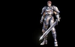 Картинка оружие, игра, меч, доспехи, воин, фэнтези, арт, дизайн костюма, Lineage Knight (2009), jung-won Park