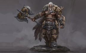 Картинка воин, фэнтези, арт, Russell Dongjun Lu, Wild Warrior