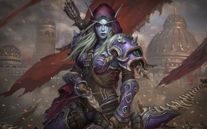 Картинка World of Warcraft, Warcraft, Blizzard, Illustration, Eric Braddock, Characters, Sylvanas, Game Art, Dark Lady Sylvanas …