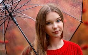 Картинка Девушка, зонт, Кристина Вострухина, Анна Шувалова