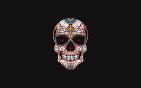 Картинка Минимализм, Рисунок, Череп, Стиль, Фон, Fantasy, Арт, Art, Style, Skull, Фантастика, Fiction, Background, Minimalism, Figure, …