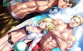 Картинка пляж, Атака Титанов, Shingeki No Kyojin, Титаны