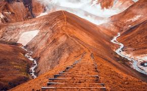 Картинка South, Iceland, лестница в небо, Hrunamannahreppur