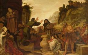 Картинка масло, картина, мифология, 1628, Jacob Symonsz Pynas, Павел и Варнава в Листре, Якоб Симеон Пинас