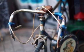 Картинка велосипед, руль, ржавчина