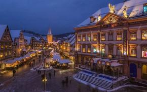 Картинка огни, Германия, Рождество, Баден-Вюртемберг, Генгенбах