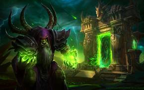 Картинка Blizzard, Orc, WarCraft, Warlock, Гул'дан, Guldan, Gul'dan, Mr--Jack, World of WarCraft, Shaman, Mr Jack, by ...
