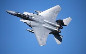 Картинка ВВС США, истребитель-бомбардировщик, американский двухместный, McDonnell Douglas F-15E Strike Eagle