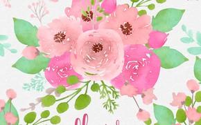 Картинка цветы, текстура, background, Floral