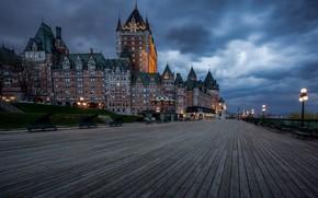 Картинка огни, вечер, Канада, Quebec, Квебек