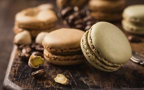 Картинка кофе, печенье, орехи, кофейные, macaron, миндальное, Iryna Melnyk