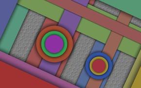 Картинка круги, слои, подложка