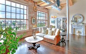 Картинка дизайн, стиль, комната, интерьер, гостиная, Massachusetts, Loft