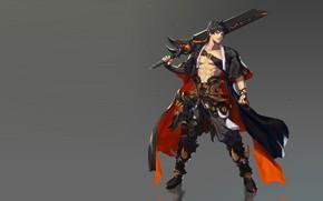Картинка оружие, игра, меч, воин, фэнтези, арт, дизайн костюма, B B