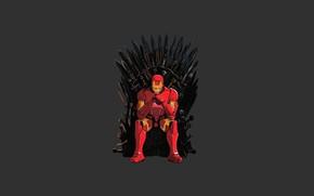 Картинка game of thrones, iron man, Tony Stark, iron throne