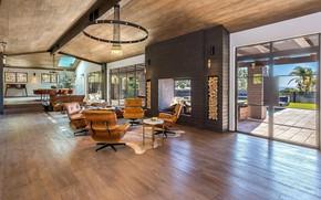 Картинка вилла, интерьер, камин, гостиная, столовая, by Studio Jhoiey, Rising Glen