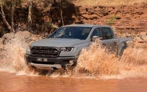 Картинка серый, Ford, Raptor, пикап, водоём, 2018, Ranger