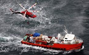 Картинка Океан, Море, Вертолет, Техника, Спасатели, Ship, Vessel, Offshore, Offshore Supply Ship, Supply Ship, Offshore Tug, …