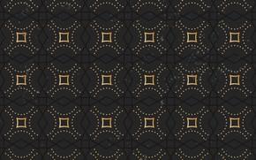 Картинка золото, узор, черный, орнамент, винтаж, pattern
