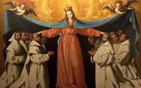Картинка 1655, Francisco de Zurbaran, Омофор Богоматери
