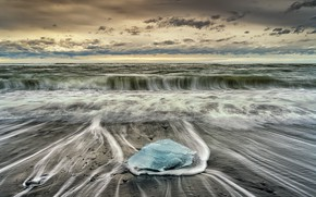 Картинка море, природа, берег, лёд