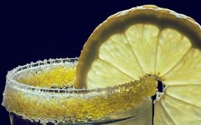 Картинка стакан, лимон, сахар